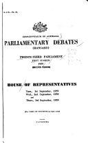 Parliamentary Debates  House of Representatives  Weekly Hansard Book PDF