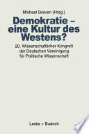 Demokratie     eine Kultur des Westens