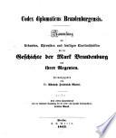Codex diplomaticus brandenburgensis