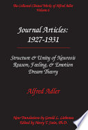 The Collected Clinical Works of Alfred Adler  Journal articles   1927 1931
