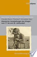 Literarische Verarbeitungen des Krieges vom 17. bis zum 20. Jahrhundert