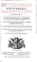 Dictionnaire universel François - Latin