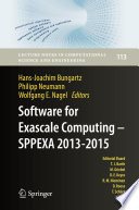 Software for Exascale Computing   SPPEXA 2013 2015