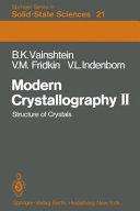 Modern crystallography