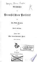 Geschichte der Preussischen Politik: Th., 1.-2. Abth. Die territoriale Seit. 1869-70