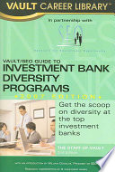 Vault SEO Guide to Investment Bank Diversity Programs 2007