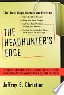 The Headhunter s Edge Book PDF