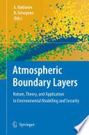 Atmospheric Boundary Layers