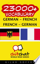 23000  German   French French   German Vocabulary