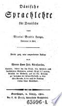 Dänische Sprachlehre für Deutsche. 2. Aufl