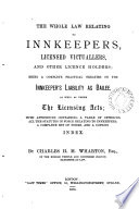 The Whole Law Relating to Innkeepers