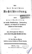 Von der deutschen Rechtschreibung