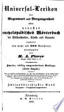 Universal lexikon der gegenwart und vergangenheit