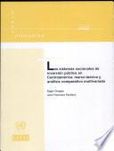 Los sistemas nacionales de inversión pública en Centroamérica