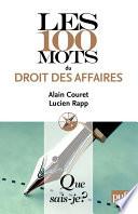 Les 100 Mots Du Droit Des Affaires
