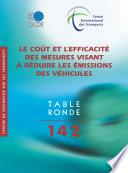 Tables rondes FIT Le co  t et l efficacit   des mesures visant    r  duire les   missions des v  hicules