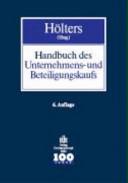 Handbuch des Unternehmens- und Beteiligungskaufs