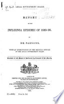 Report on the Influenza Epidemic of 1889 90