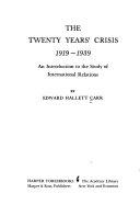 Twenty Years  Crisis  1919 1939 Book PDF