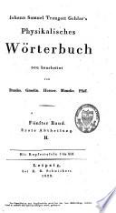 Johann Samuel Traugott Gehler s physikalisches W  rterbuch