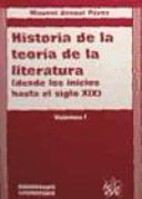 Historia de la teoría de la literatura
