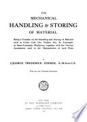 The Mechanical Handling   Storing of Material Book PDF