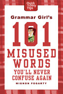 Grammar Girl S 101 Misused Words You Ll Never Confuse Again