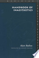 Handbook of Inaesthetics