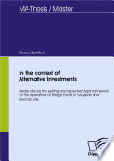 In the context of Alternative Investments