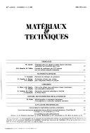 Mat  riaux et techniques