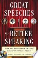 Great Speeches For Better Speaking