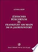 J  disches B  rgertum in Frankfurt am Main im 19  Jahrhundert