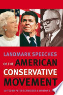Landmark Speeches of the American Conservative Movement Free download PDF and Read online