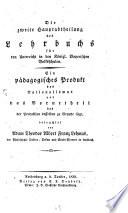 Die zweite Hauptabtheilung des Lehrbuchs für den Unterricht in den k. b. Volksschulen