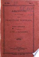 Archivio per lo studio delle tradizioni popolari rivista trimestrale
