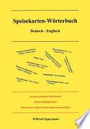 Speisekarten W  rterbuch Deutsch   Englisch
