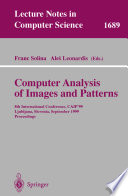 Computer Analysis of Images and Patterns Book PDF