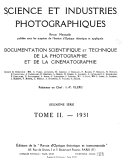 Science et industries photographiques