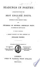 download ebook readings in poetry: a selection from the best english poets, from spenser to modern times; and specimens of several american poets of deserved reputation, etc pdf epub