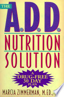 The A D D  Nutrition Solution Book PDF