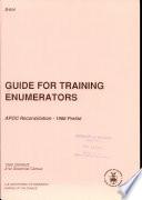 Guide for Training Enumerators