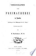 Bibliographie der Freimaurerei in Amerika