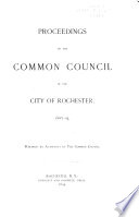 Proceedings of the Common Council  for the City of Rochester  for