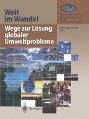 Wege zur Lösung globaler Umweltprobleme