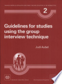Guidelines For Studies Using The Group Interview Technique