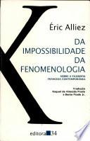 Da impossibilidade da fenomenologia