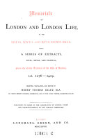 download ebook memorials of london and london life, in the xiii., xiv. and xv. centuries ... from the early archives of the city of london. 1276-1419. select., transl. a. ed pdf epub