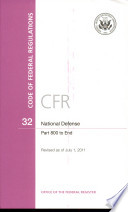 Code of Federal Regulations, Title 32, National Defense, PT. 800-End, Revised as of July 1, 2011