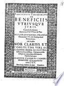 Fasciculus theorematum de beneficiis utriusque iuris