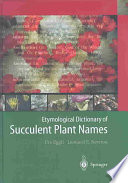 Etymological Dictionary of Succulent Plant Names Items In Daily Life Persons Objects